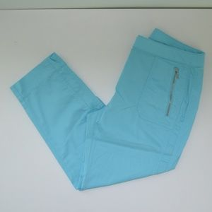 Chico's Zenergy Size 0 Turquoise Cropped Pants